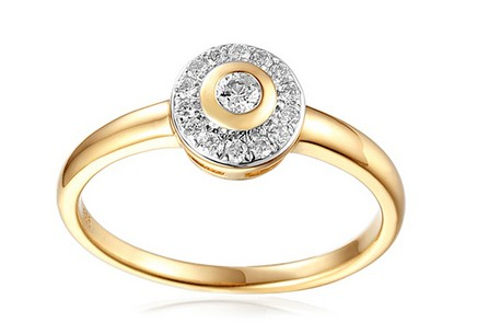 Gold Engagement Ring with Diamonds 0.130 ct Julissa