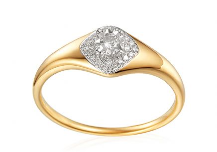 Gold Engagement Ring with Diamonds 0.160 ct Aidene 2