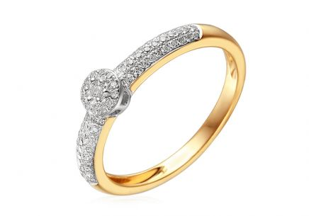 Gold Engagement Ring with Diamonds 0.220 ct Karlia