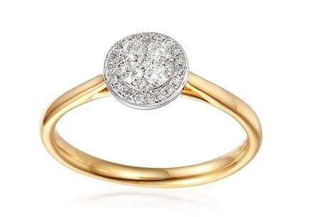 Gold Engagement Ring with Diamonds 0.230 ct Melisma