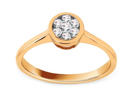 Gold Engagement Ring with Diamonds 0.250 ct Maude