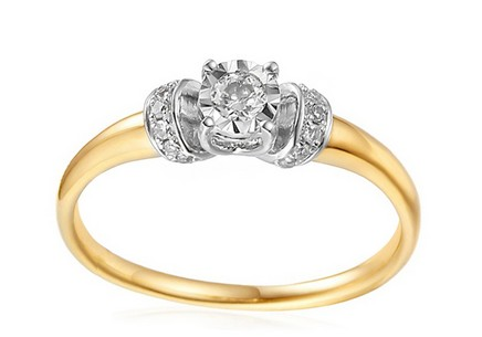 Gold Engagement Ring with Diamonds Imane