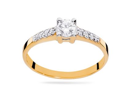 Gold Engagement Ring with Diamonds Jimena