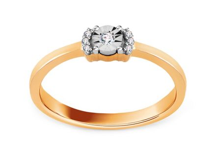 Gold Engagement Ring with Diamonds Jozlyn