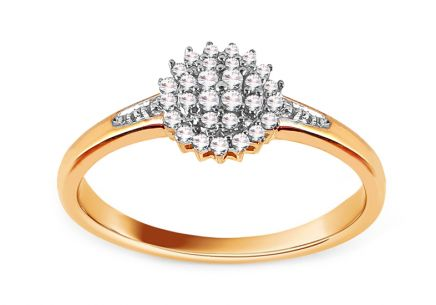 Gold Engagement Ring with Diamonds Julietta