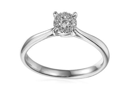 Gold Engagement Ring with Diamonds Kaili white