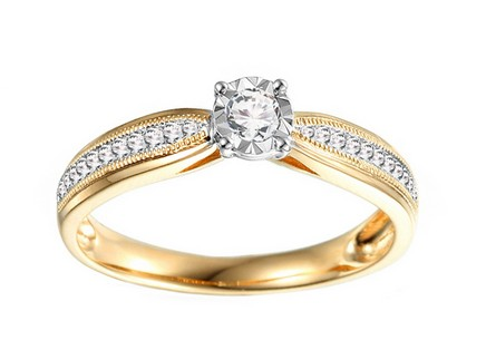 Gold Engagement Ring with Diamonds Maya 2
