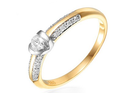 Gold Engagement Ring with Diamonds Shiloh