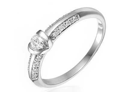 Gold Engagement Ring with Diamonds Shiloh white