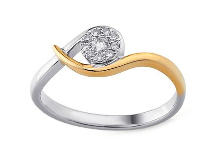 Gold Engagement Ring with Diamonds Tabitha