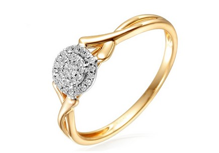 Gold Engagement Ring with Diamonds Talasi