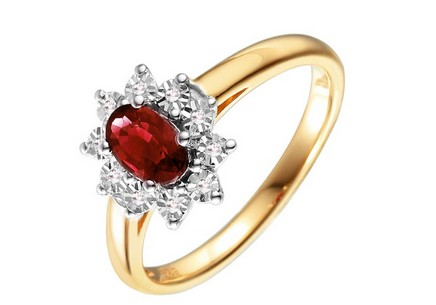 Gold Engagement Ring with Ruby Loyola