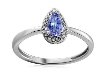 Gold Engagement Ring with Tanzanite and Diamonds Mariam