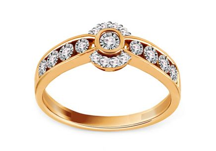 Gold Ring with Brilliants Prissy
