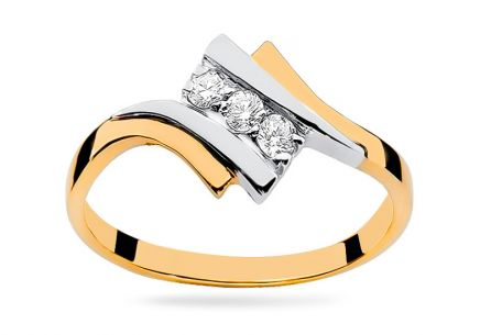 Gold Ring with Diamonds Clementine
