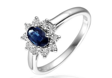 Gold Ring with Sapphire and Diamonds Palesa
