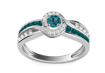 Luxury Ring with 0,630 ct Blue Diamonds Blue Lagoon