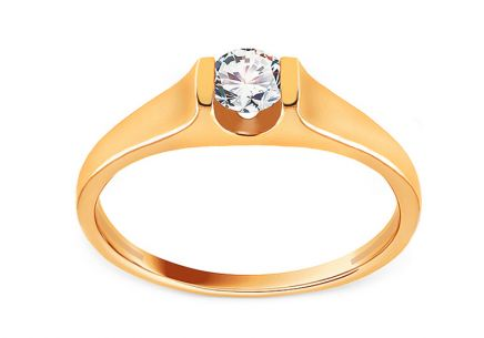Stunning Yellow Gold and Diamond Engagement Ring 0.250 ct