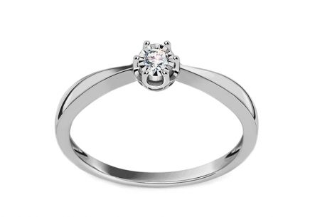 White Gold Diamond Engagement Ring 0.050 ct Wynona 4