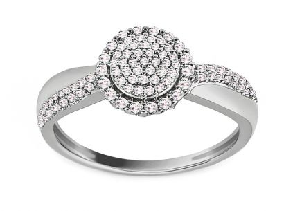 White Gold Diamond Engagement Ring 0.200 ct Zélia