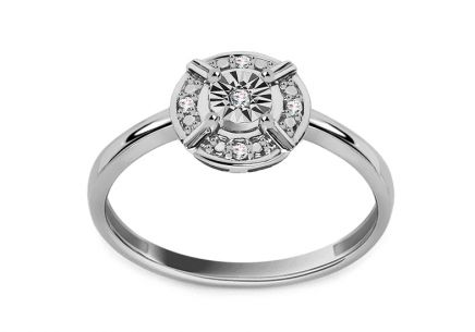 White Gold Engagement Ring 0,030 ct Dawa
