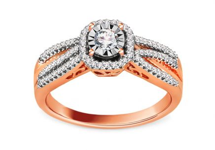 White Gold Engagement Ring with Brilliants 0.320 ct