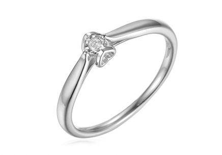 White Gold Engagement Ring with Diamond 0.020 ct Layra