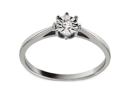 White Gold Engagement Ring with Diamond 0.030 ct Adrie