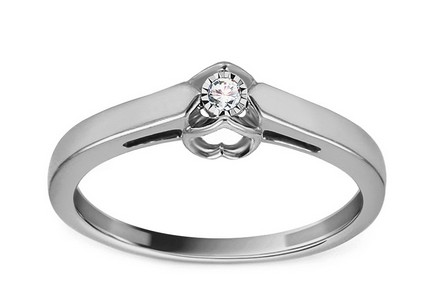 White Gold Engagement Ring with Diamond 0.030 ct Reshma