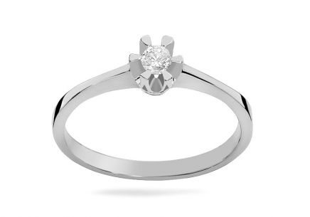 White Gold Engagement Ring with Diamond 0.040 ct Haidee 2