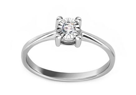 White Gold Engagement Ring with Diamond 0.050 ct Callis