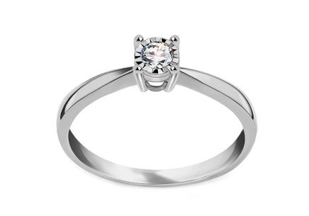 White Gold Engagement Ring with Diamond 0.150 ct Chalina