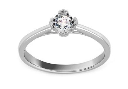 White Gold Engagement Ring with Diamond 0.150 ct Mirielle