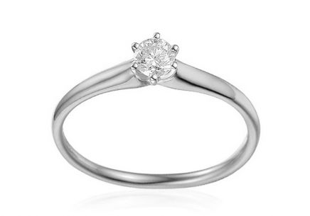White Gold Engagement Ring with Diamond 0.150 ct Suzann