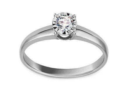 White Gold Engagement Ring with Diamond  0.160 ct Martine