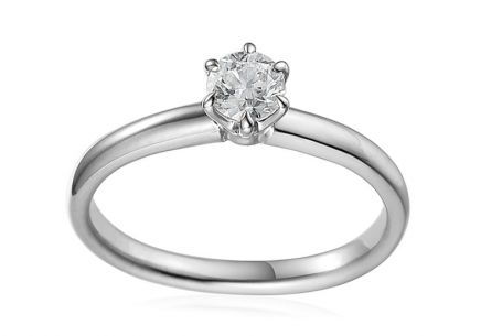 White Gold Engagement Ring with Diamond 0.500 ct Caissa