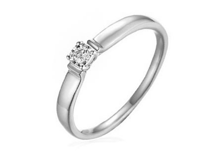 White Gold Engagement Ring with Diamond Louise