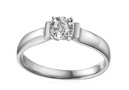 White Gold Engagement Ring with Diamond Louise 2