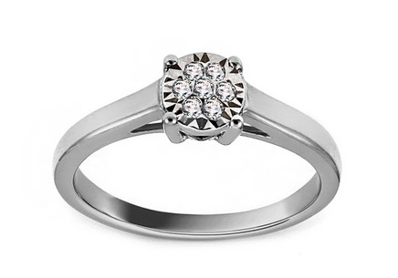 White Gold Engagement Ring with Diamonds 0.050 ct Janice