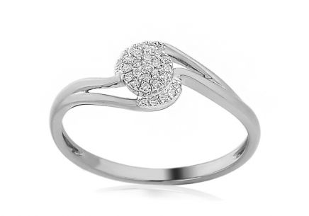 White Gold Engagement Ring with Diamonds 0.060 ct Edyth