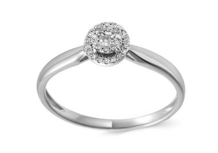 White Gold Engagement Ring with Diamonds 0.080 ct Denja