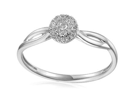 White Gold Engagement Ring with Diamonds 0.090 ct Dinah