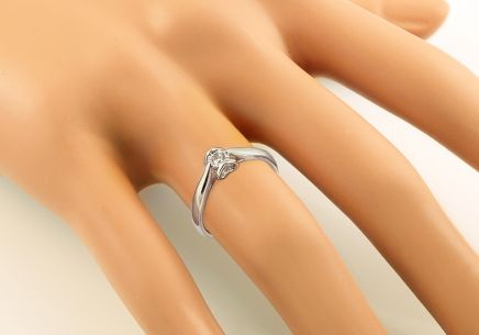 White Gold Engagement Ring with Diamonds 0.100 ct Layra 3