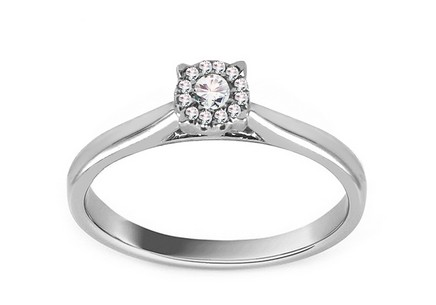 White Gold Engagement Ring with Diamonds 0.100 ct Odiane