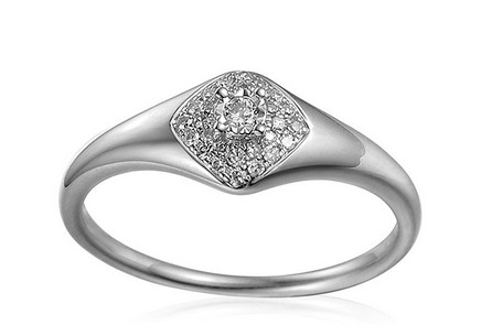 White Gold Engagement Ring with Diamonds 0.120 ct Aidene
