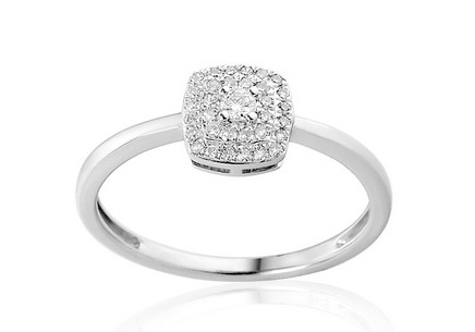 White Gold Engagement Ring with Diamonds 0.140 ct Lasalle