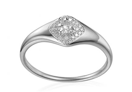 White Gold Engagement Ring with Diamonds 0.160 ct Aidene 2