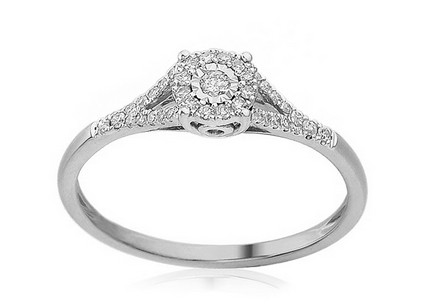 White Gold Engagement Ring with Diamonds 0.160 ct Rovena