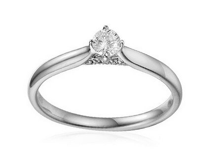 White Gold Engagement Ring with Diamonds 0.170 ct Tomika