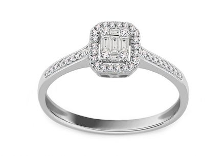 White Gold Engagement Ring with Diamonds 0.200 ct Adabella